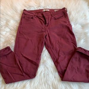 Maroon High Rise Skinny Jeans - Pacsun
